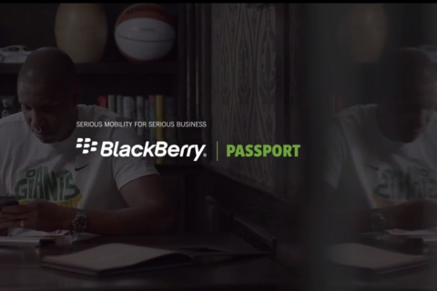 Toronto Raptors President and General Manager, Masai Ujiri works wide with his BlackBerry Passport