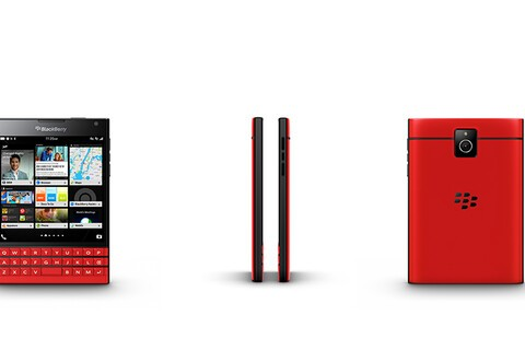 Here's another look at the red BlackBerry Passport