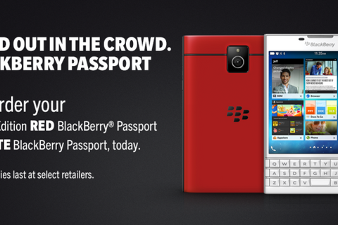 BlackBerry Passport in red and white now available for pre-order in North America