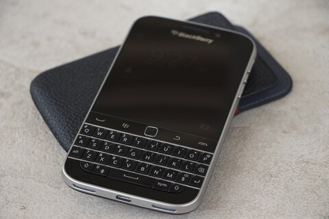BlackBerry Classic With Leather Pouch