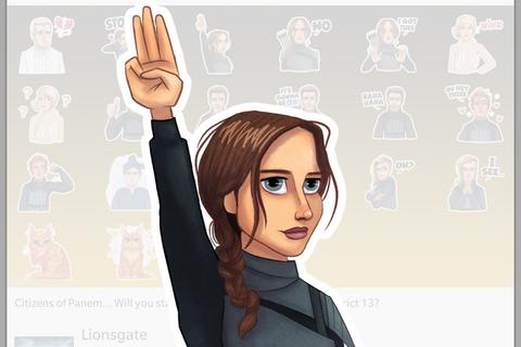 Hunger Games Mockingjay BBM stickers have arrived