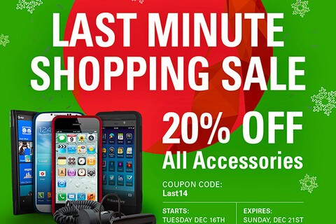 BlackBerry cases, chargers, batteries and everything else are 20% off right now