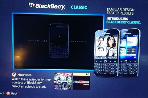 BlackBerry heads to XBox Live to advertise the BlackBerry Classic