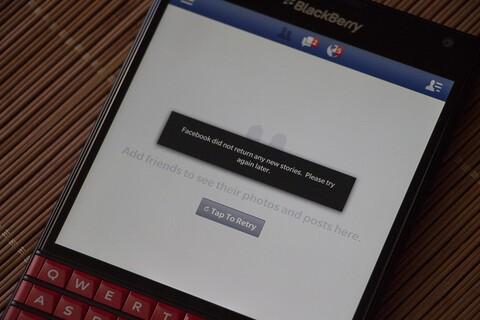 Facebook app not updating? BlackBerry is aware