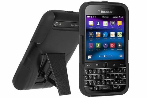 Kickstand lovers — Grab this protective BlackBerry Classic hybrid case today for only $4.95!