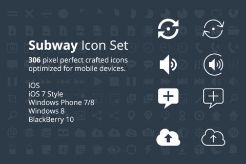 Subway icon set