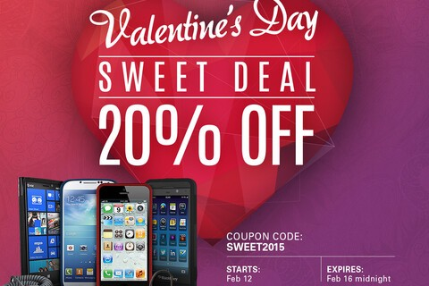 Valentine's Day Sale: 20% off all BlackBerry accessories!