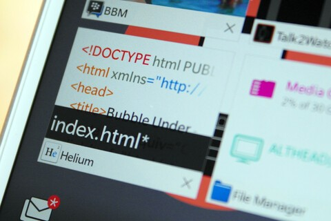 Helium is a handy lightweight text editor for editing on the go