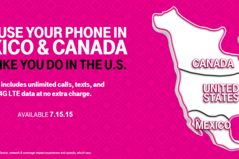 T-Mobile no longer charges you for using your phone in Mexico and Canada