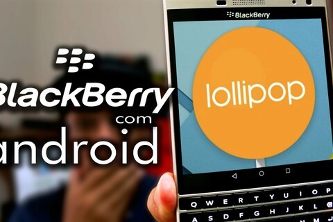 BlackBerry Passport Silver Edition captured on video running Android