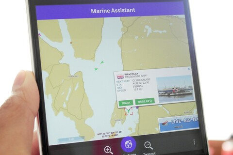 AIS Vessel tracking app Marine Assistant update with weather tab and other fixes