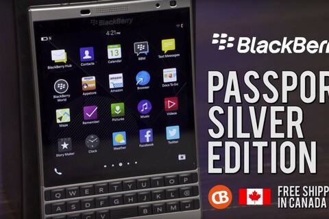 Order the new BlackBerry Passport SILVER Edition from CrackBerry Canada and receive $130 in FREE accessories!