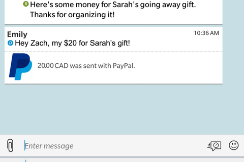 You will soon be able to send and receive money with PayPal through BBM