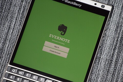Evernote will discontinue support for Evernote for BlackBerry 10 as of June 29