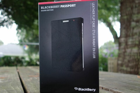 Save 58% today on BlackBerry leather flip cases for the Silver Edition Passport
