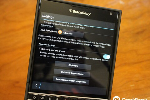 BlackBullet adds clipboard instant share in latest version