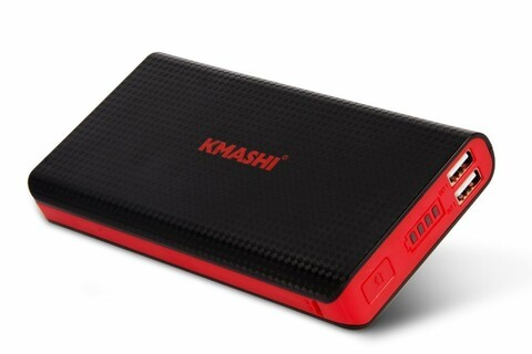 Keep charged with Kmashi's 15000mAh power bank for just $12.50 with coupon code at Amazon