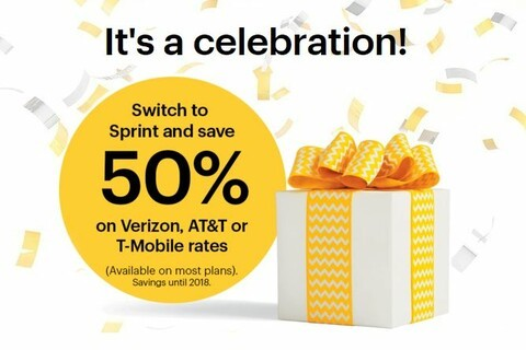 Sprint's latest promotion will save you 50 percent on your existing Verizon, T-Mobile or AT&T bill when you switch