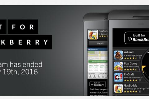 The Built for BlackBerry program for app developers has ended