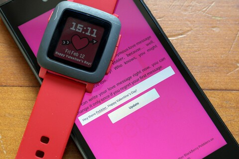 Send anonymous Valentine messages with the BlackBerry Loves Pebble app