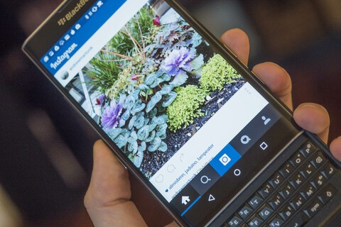 Instagram on the BlackBerry Priv