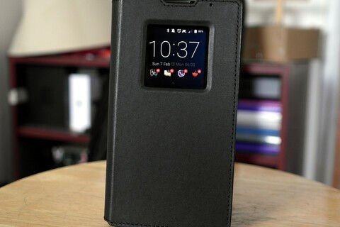Save 50% on the leather smart flip case for your BlackBerry Priv today!