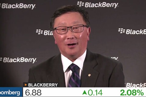 John Chen discusses BlackBerry profit forecast and new smartphones