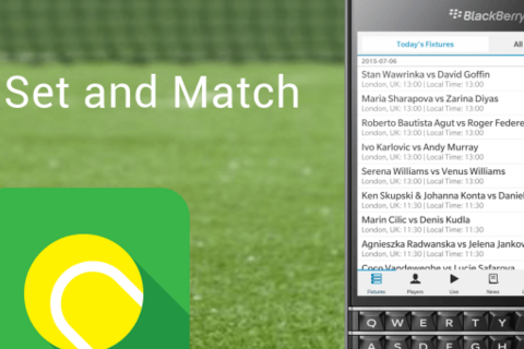 Game Set and Match for BlackBerry 10 updated for Wimbledon 2016