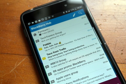 How to set up the BlackBerry Hub widget on Android