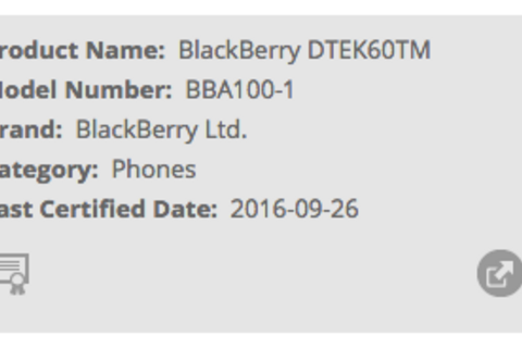 BlackBerry 'Argon' passes through the FCC and WiFi Alliance as DTEK60