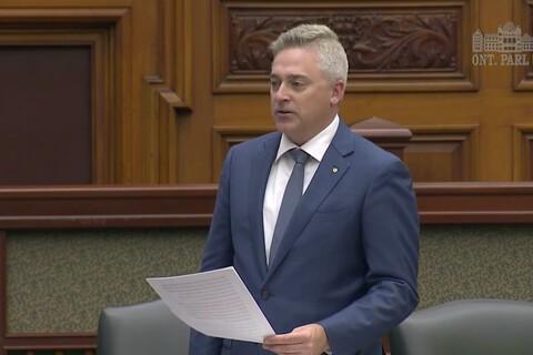 MPP Michael Harris name-drops the unreleased DTEK60 in Ontario Legislature speech