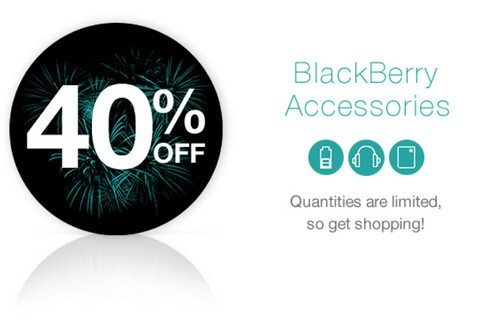 Get 40% off all accessories from ShopBlackBerry right now!