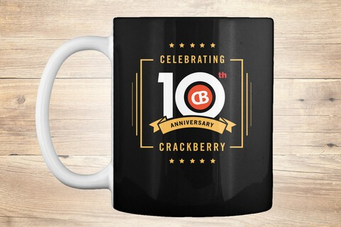 Grab a limited edition CrackBerry 10th Anniversary mug now!