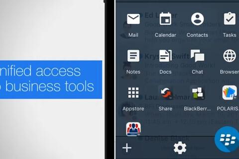 BlackBerry Dynamics Launcher brings desktop productivity to mobile