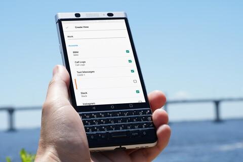 How to use custom views on BlackBerry Hub with KEYone