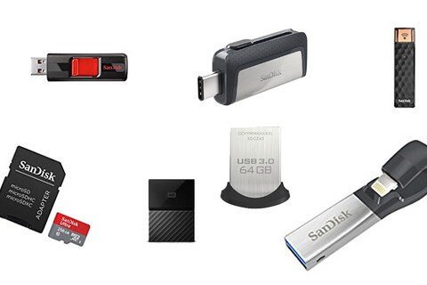 Many SanDisk microSD cards and Lightning/USB-C flash drives are at all-time lows today