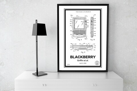 Every BlackBerry fan should have one of these patent posters
