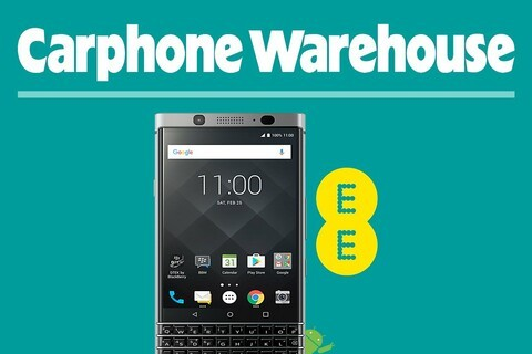 BlackBerry KEYone now available on EE pay monthly plans from Carphone Warehouse!