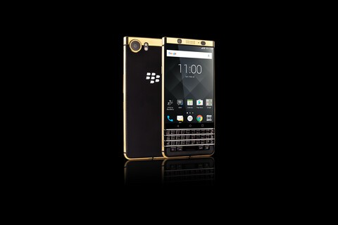You can now pre-order a special edition gold plated BlackBerry KEYone from Axiom