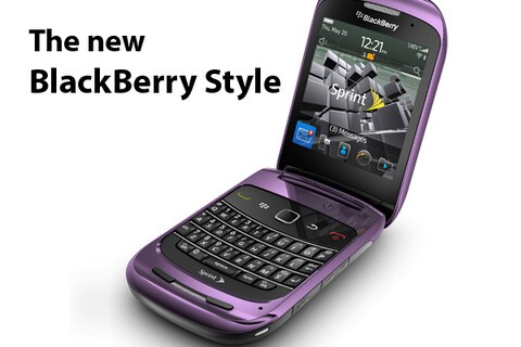 BlackBerry Style Officially Announced! New Full Qwerty Flip Available from Sprint Oct. 31st for $99.99