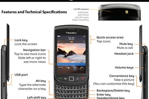 BlackBerry Torch 9800 Features and Specifications