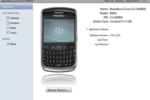 RIM Goes In-Depth on BlackBerry Desktop Software for Mac