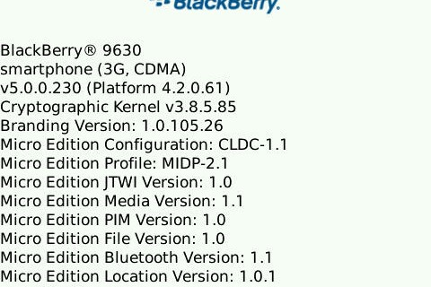 Leaked: OS 5.0.0.230 for the BlackBerry Tour!