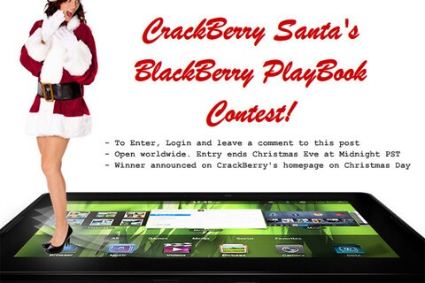 CrackBerry Santa Contest: Win an IOU for a BlackBerry PlayBook this Christmas!