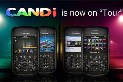 CANDi Theme Now Available for the BlackBerry Tour; Contest: 50 Free Themes to be Won!