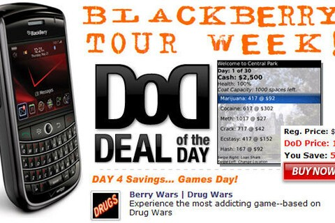 Deal of the Day: BlackBerry Tour Week! Day 4 Special: Get Berry Wars for $1.99 - 50% Off!