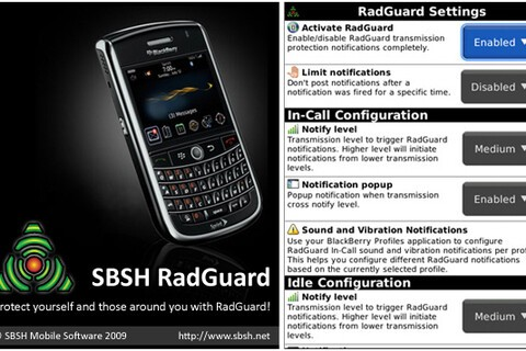 New SCARY App: RadGuard Aims to Minimize Your Exposure to Radiation Emitted from BlackBerry