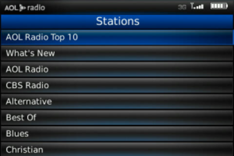 AOL Radio Player Now Available For BlackBerry Bold