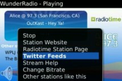 WunderRadio for BlackBerry Now Available - 50 Free Copies