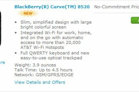 BlackBerry Curve 8520 Available from AT&T Today?